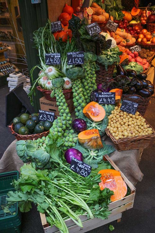 borough market vegetables
