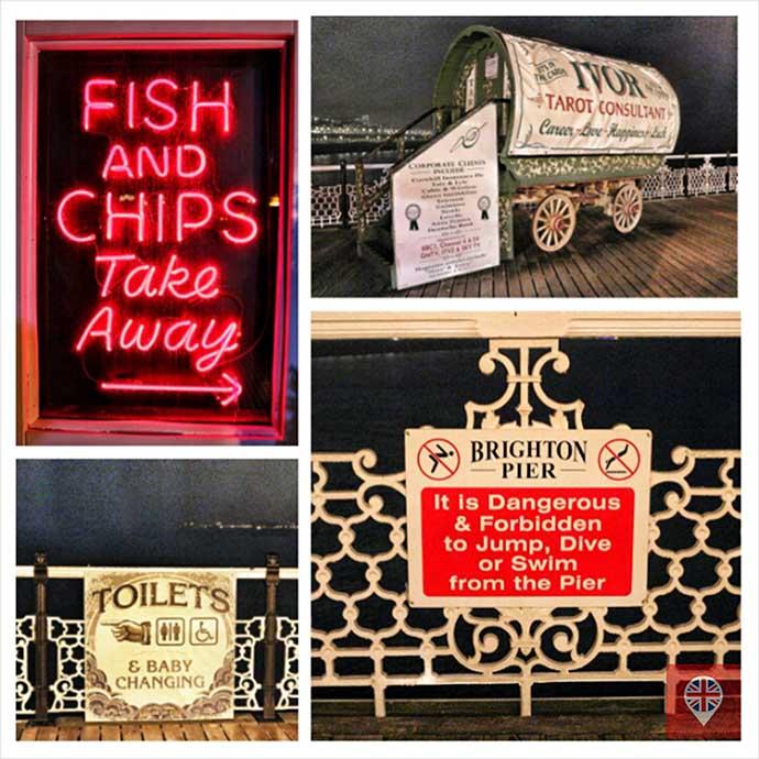 brighton pier signs