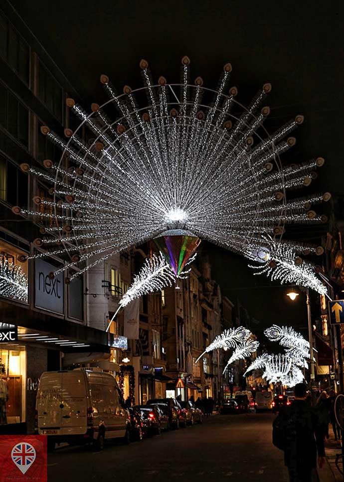 londres luzes natal bond street