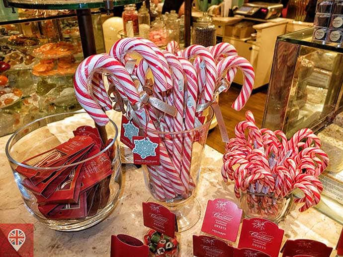 londres luzes natal fortnums candy cane