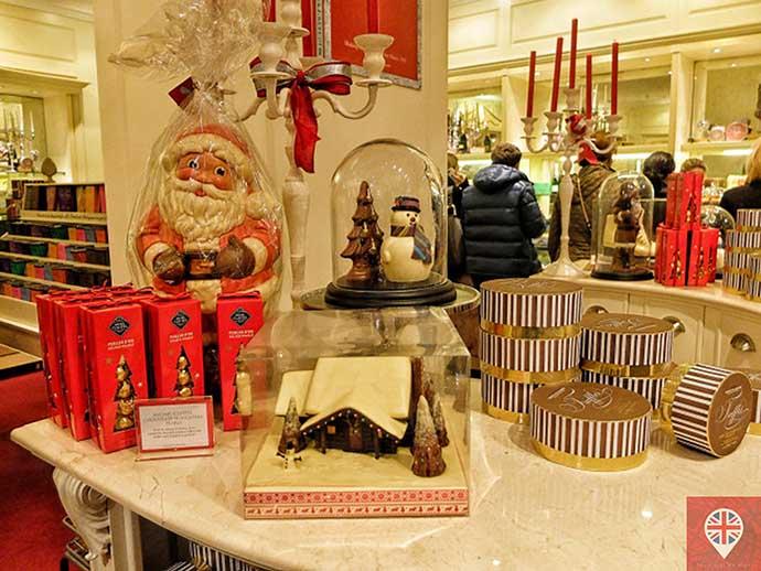 londres luzes natal fortnums chocolates