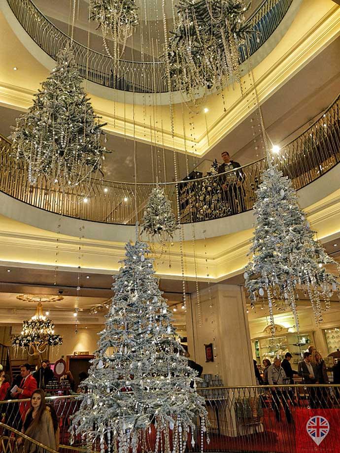 londres luzes natal fortnums interior