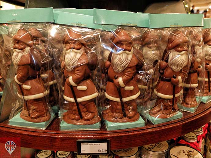 londres luzes natal fortnums papai noel chocolate