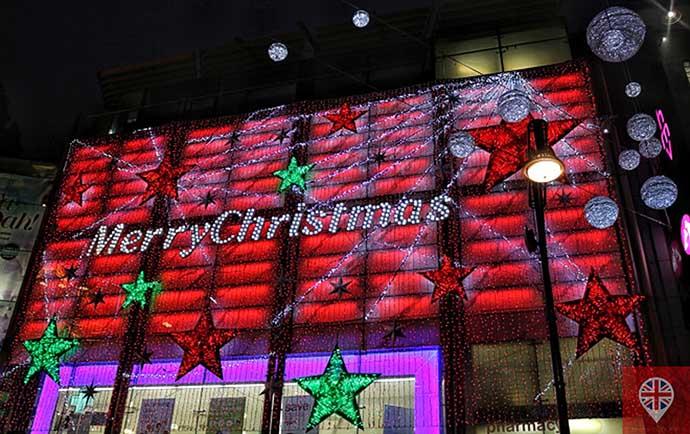 londres luzes natal oxford street boots