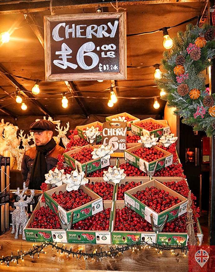 londres luzes natal oxford street cerejas