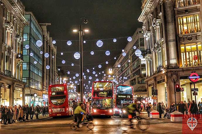 londres luzes natal oxford street onibus