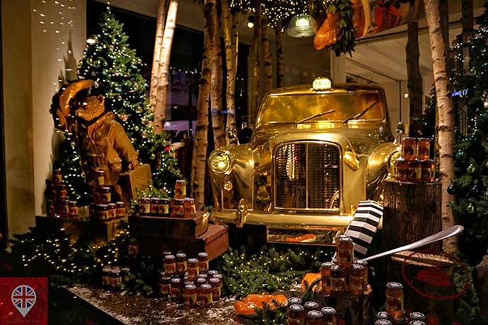 londres luzes natal oxford street selfridges paddington golden cab