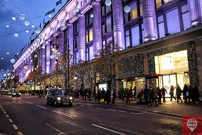 londres luzes natal oxford street taxis