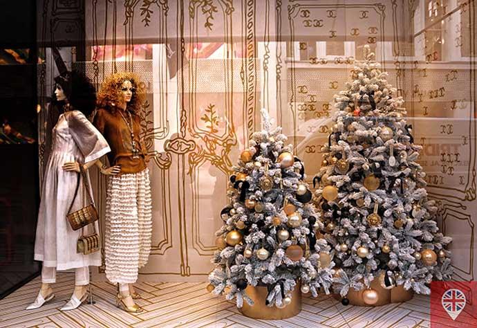 londres luzes natal vitrine chanel