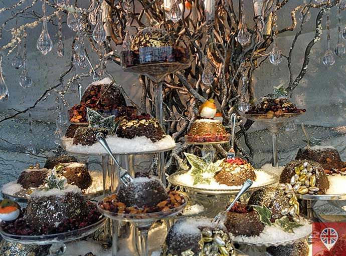 londres luzes natal vitrine fortnums christmas puddings