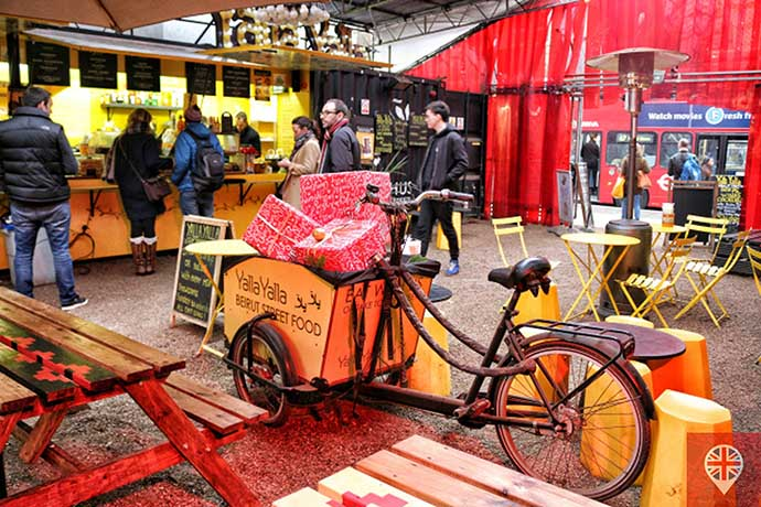 shoreditch high street food village yala yala bike