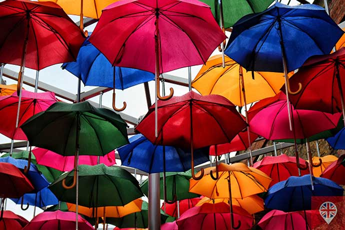 umbrellas instalation