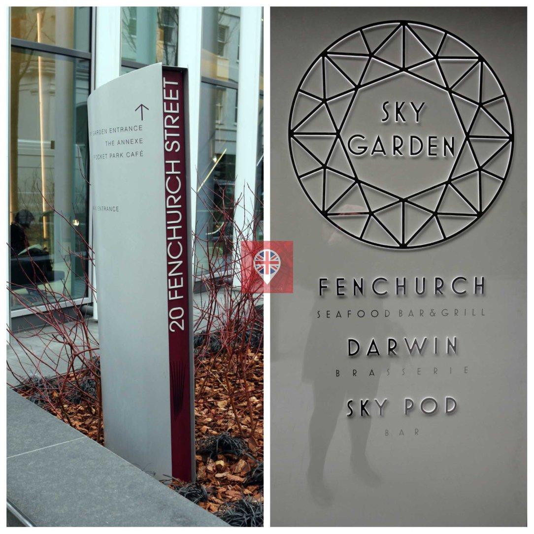 Sky Garden sign