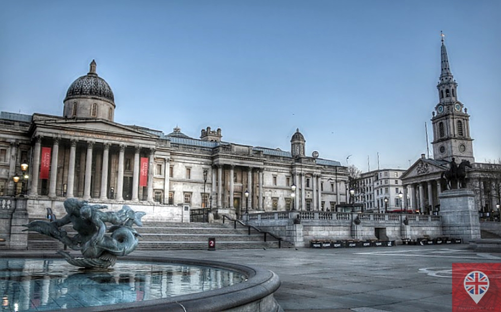 Trafalgar Square - National Gallery e St Martin in the Fields
