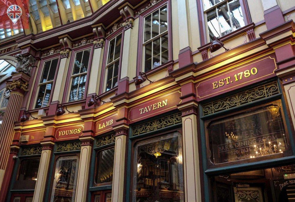 Leadenhall Market pub detalhe