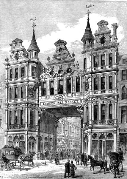 Leadenhall Market -Illustrated London News - - 1881