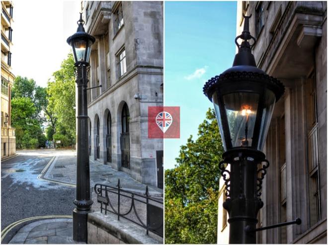 Última lâmpada de gás de esgoto em Londres