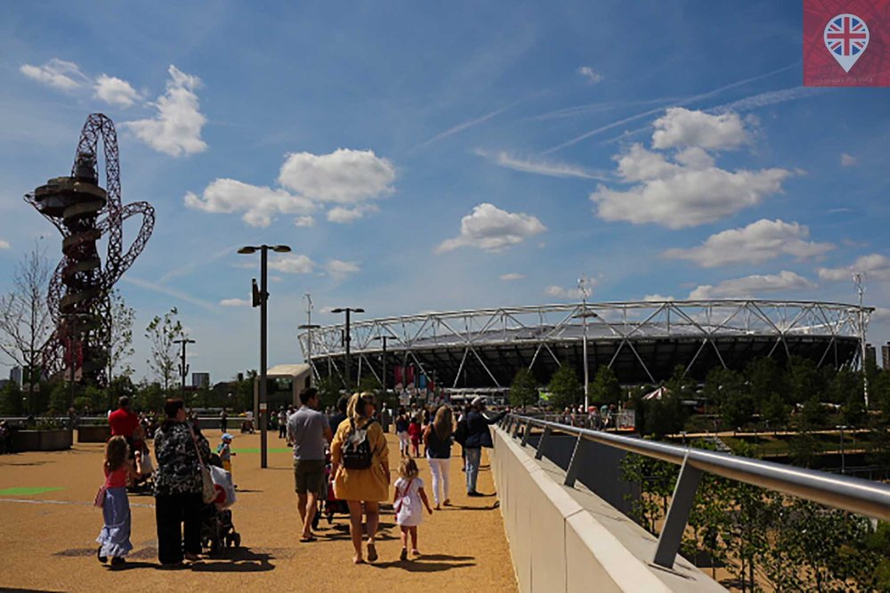 Olympic park entrance stadium