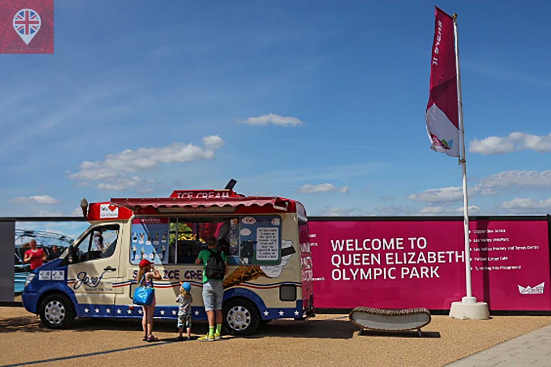 Olympic park ice cream truck