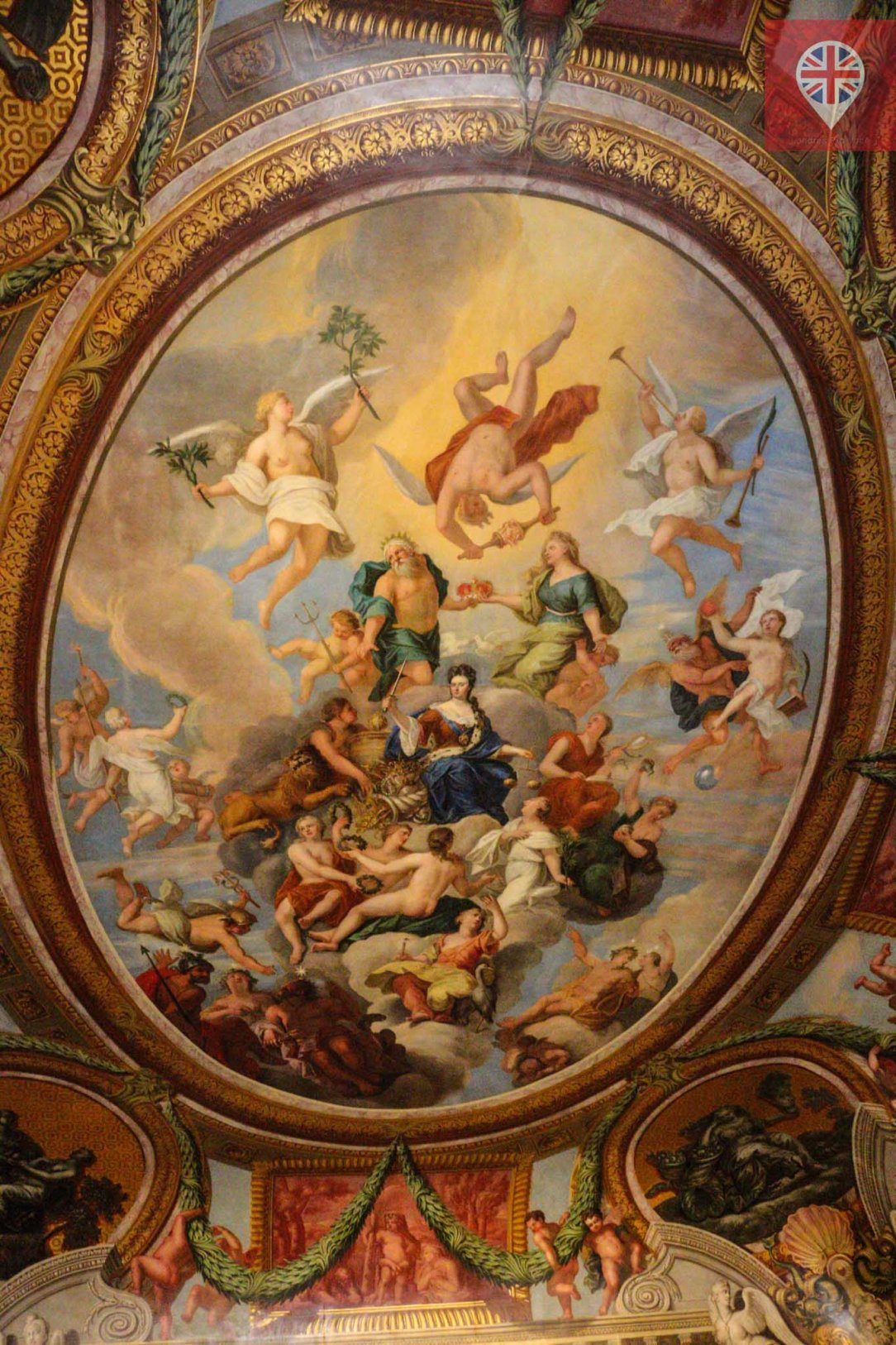 Hampton Court ceiling