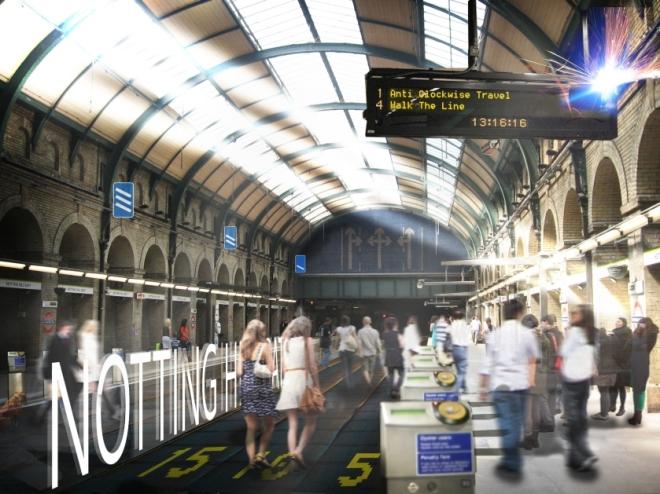 Estação de Notting Hill Gate - Foto NBBJ