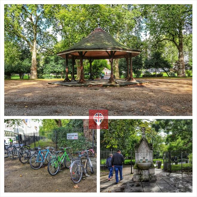 Para ir do John Soane's para o Hunterian, passe por dentro do parque.