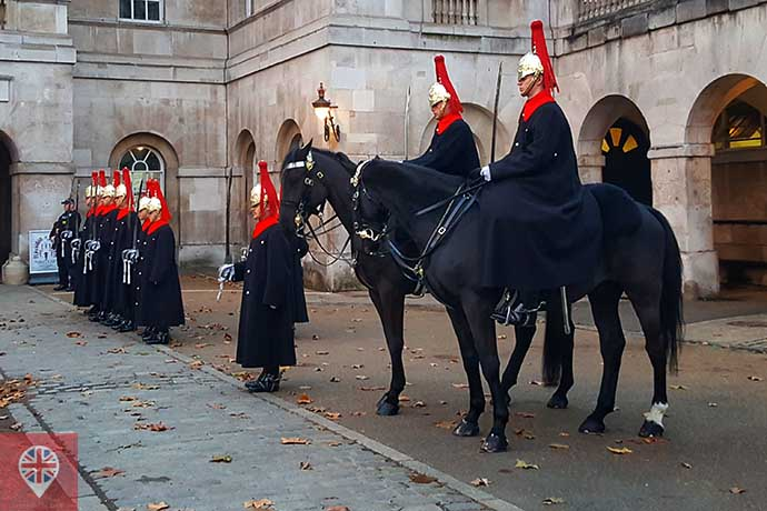 Horse Guards dismount ceremony