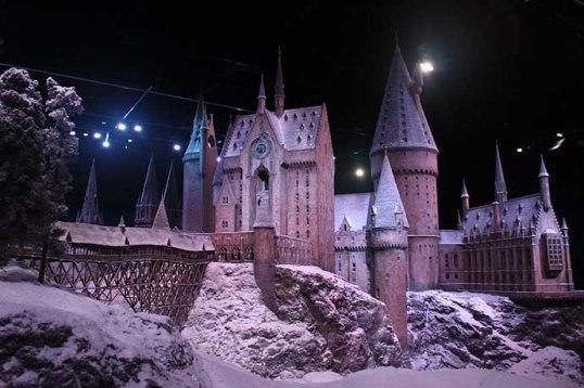 A incrível maquete do Castelo de Hogwarts