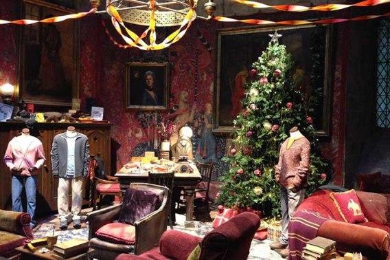 Cenários decorados para o Natal
