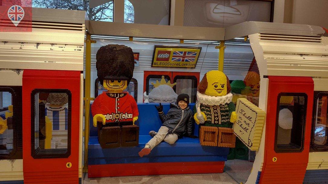 Lego store London underground metro