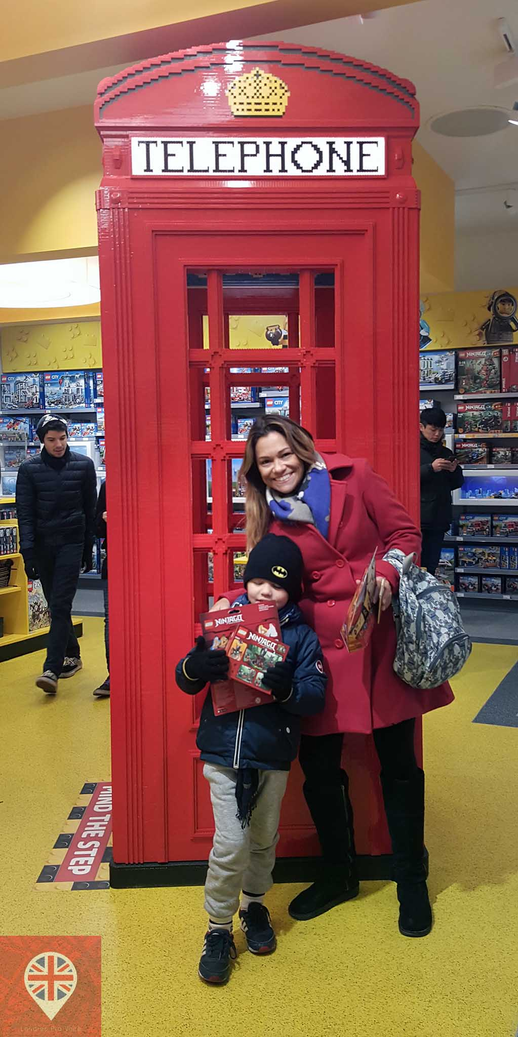 Lego store phone booth