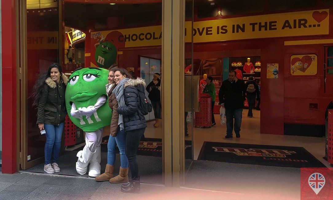 M&M world london photo green
