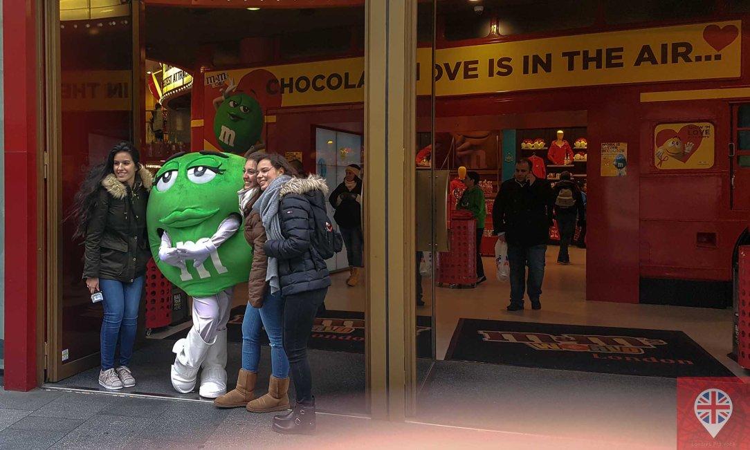 M&M world london photo green