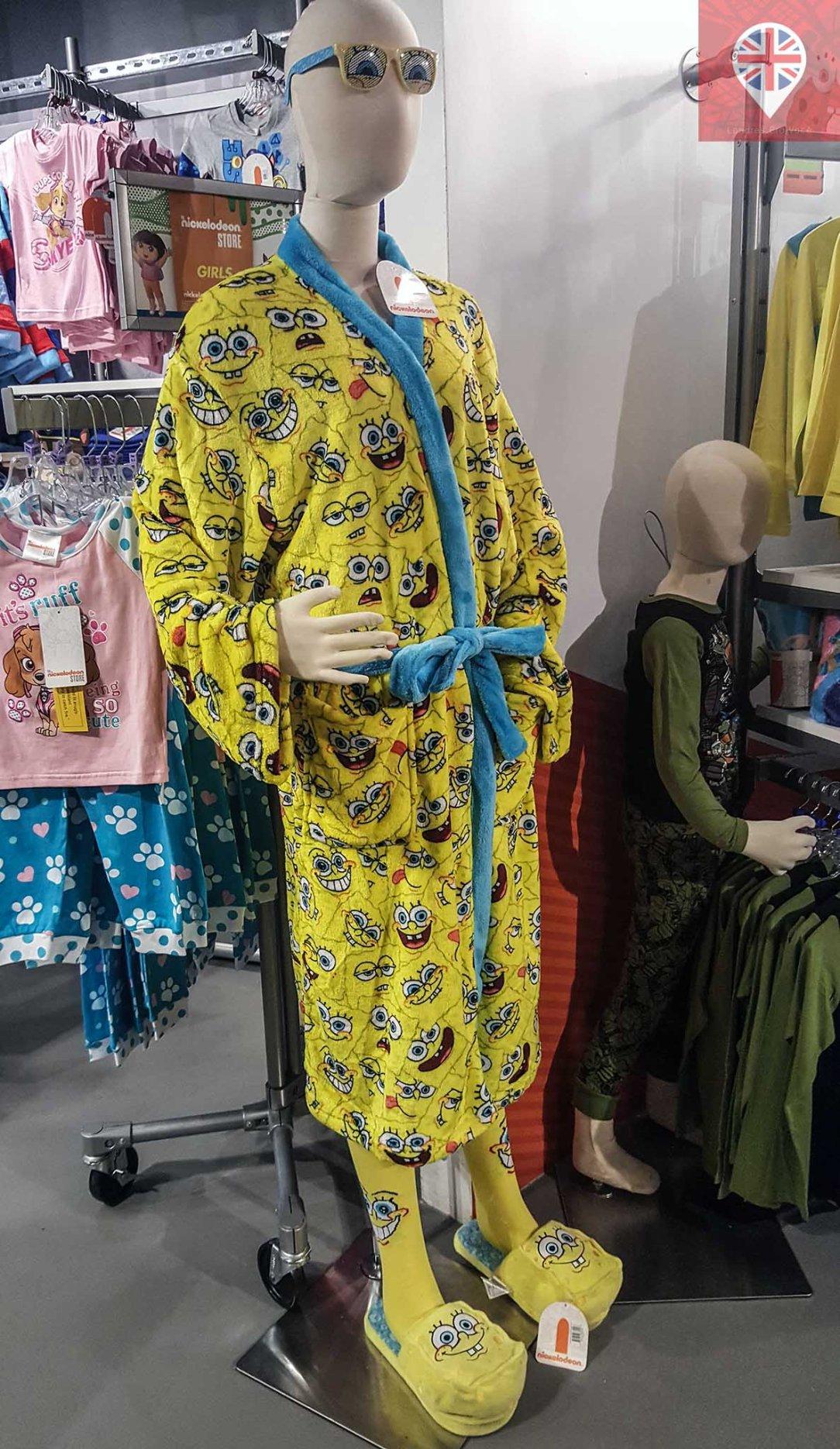 Nickelodeon store sponge bob robe
