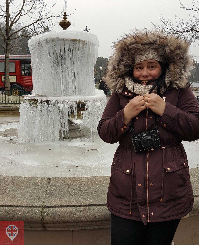 Disneyland Paris fonte congelada
