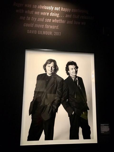 Lider e guitarrista David Gilmour (esq.) e baterista Nick Mason