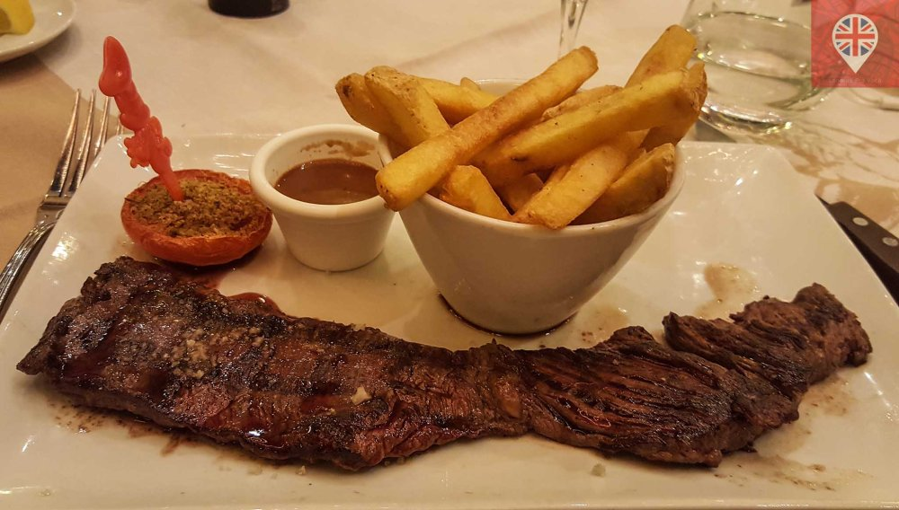 The Steakhouse steak and frites