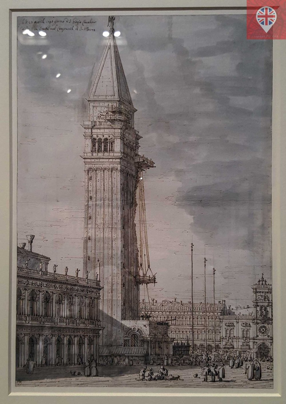 Canaletto drawing San Marco tower