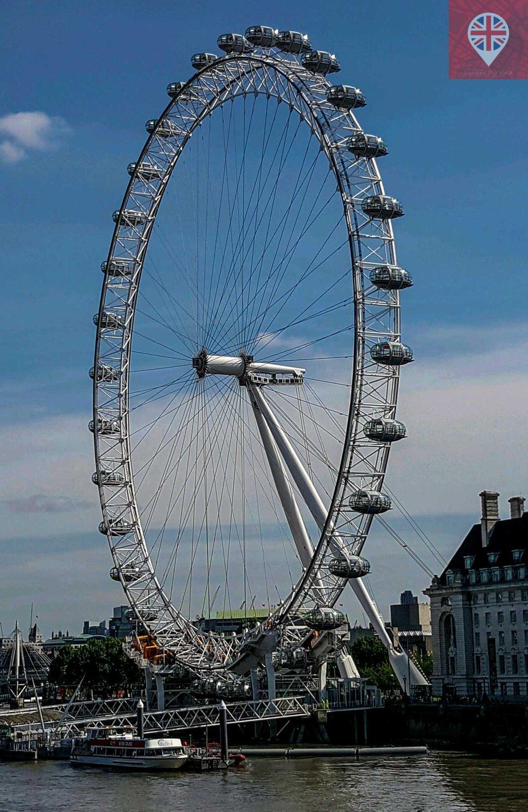 London Eye blue sky