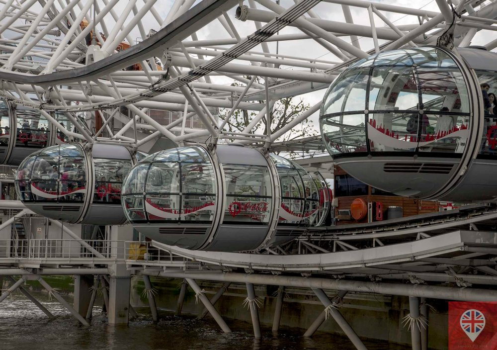 London Eye capsulas