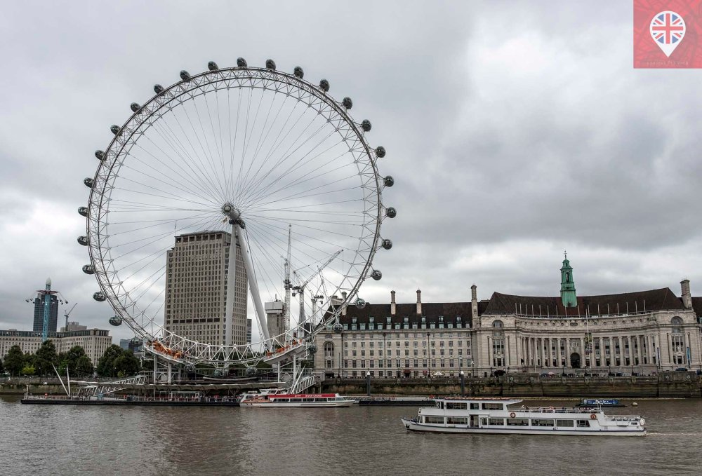 London Eye river view
