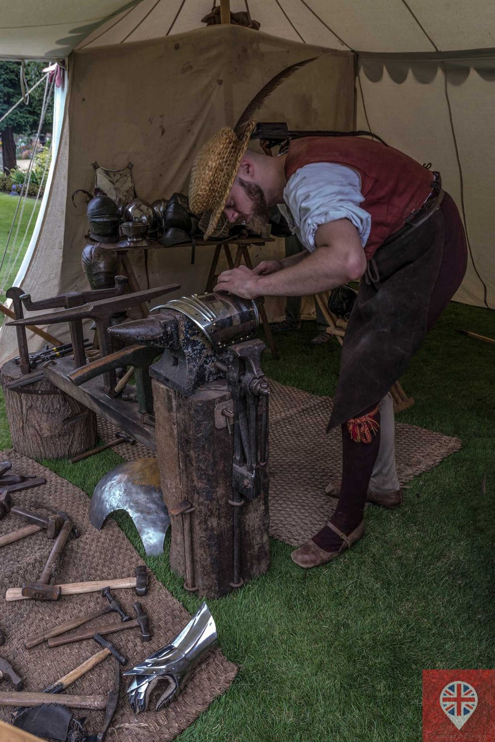hampton court tudor party blacksmith close