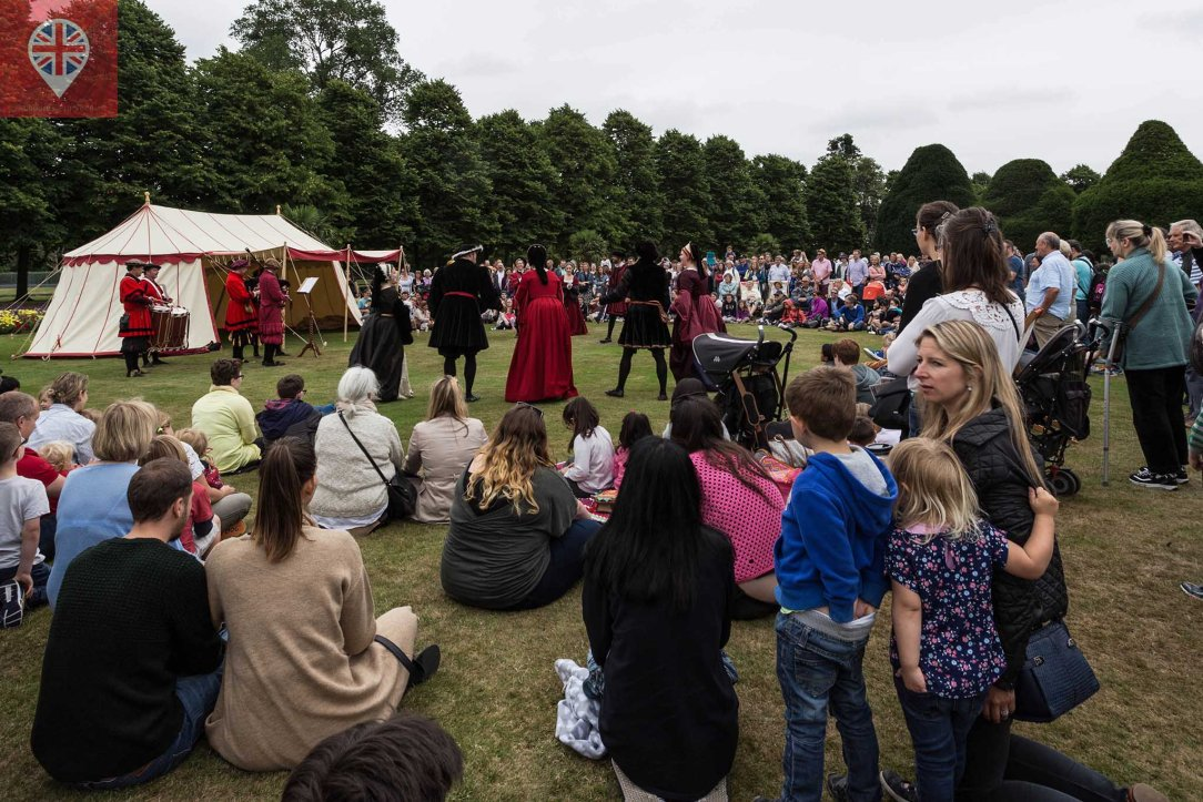 hampton court tudor party dance crowd