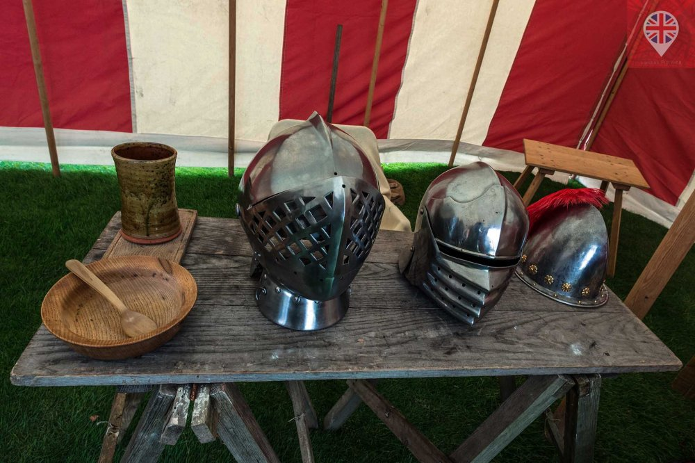 hampton court tudor party helmets