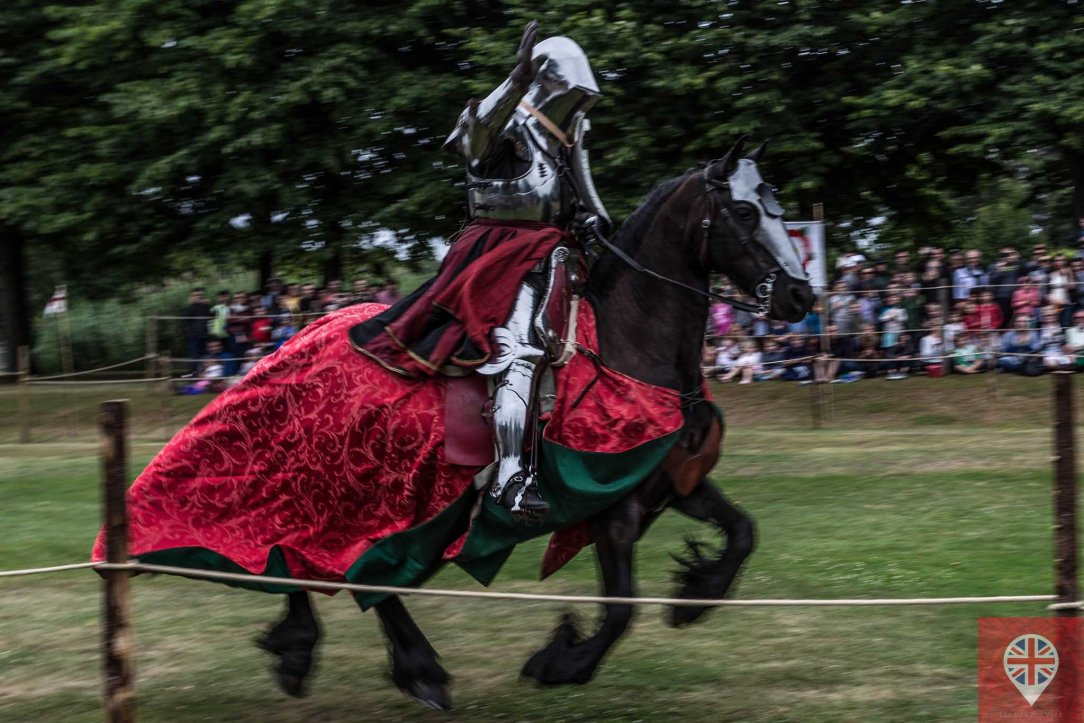 hampton court tudor party knight red