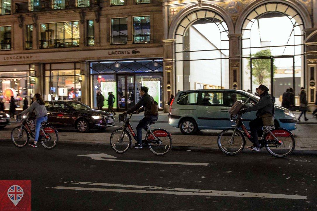 bikes regent street night