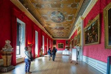 King's Gallery - a maior e mais comprida sala e continua igualzinha como no século 18.