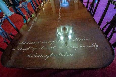 kensington palace victoria table detail