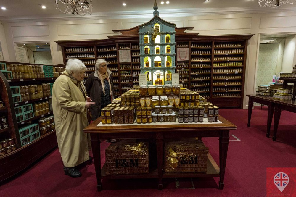 Fortnum Mason honey counter