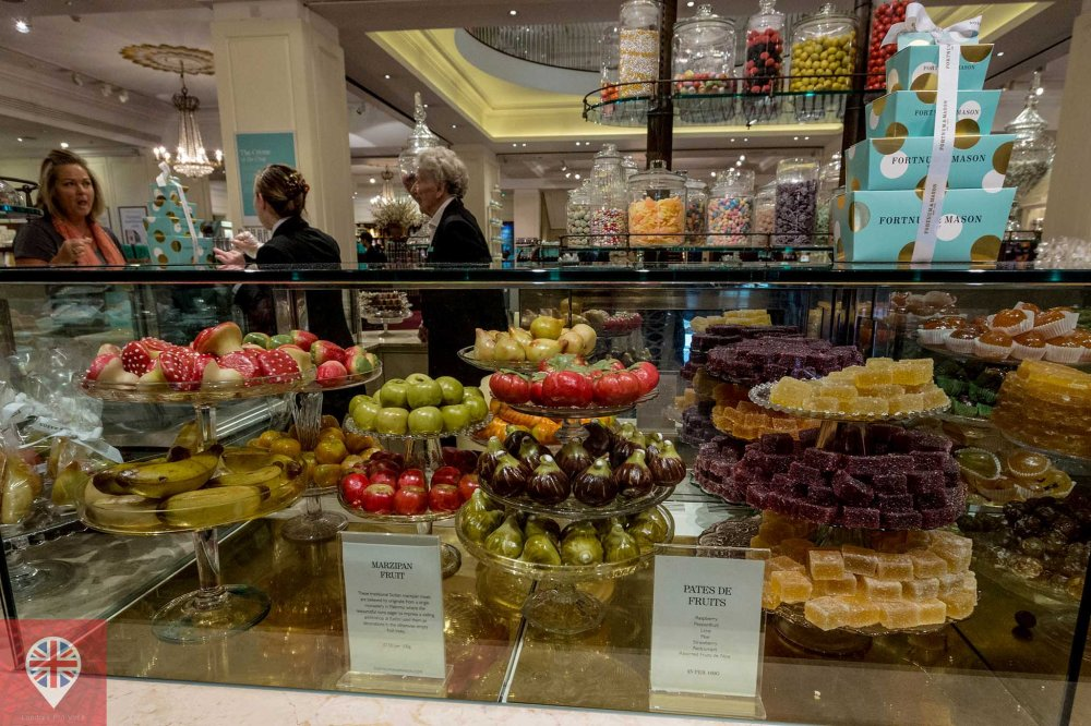 Fortnum Mason sweets counter marzipan